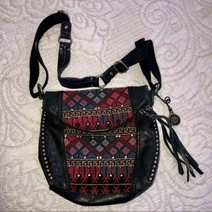 The Sak Deena Flap Tribal Cross-Body Bag